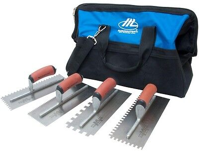 Tile Setter's Kit V U Square Notched Trowel Spread Adhesive Laying Floor Tiles