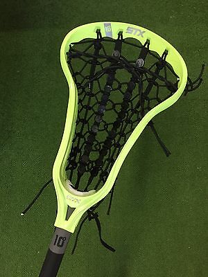 New STX Crux i Women's Lacrosse Stick - Neon Yellow With Runway Pocket