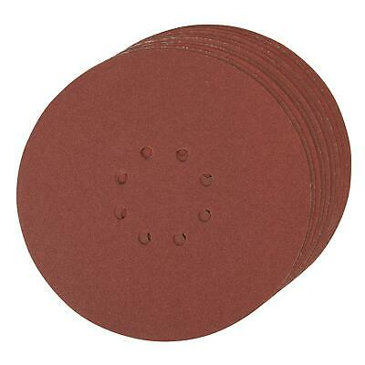 Punched Sanding Discs 225mm 10pk Grit 120 Hook And Loop Aluminium Oxide
