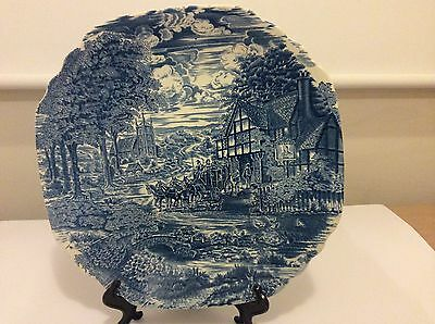 Vintage Furnivals Plate Dicken's Coaching Days Staffordshire 30cm Excellent Cond