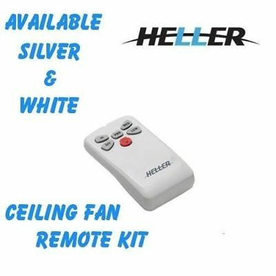 Heller Ceiling Fan and Light Remote Control Kit White/Brushed Chrome