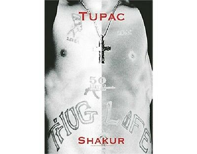 * 2PAC - CHEST LOGO - OFFICIAL TEXTILE POSTER FLAG tupac shakur