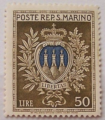 San Marino 1946 - Stamp 50 Lire Coat of Arms MH