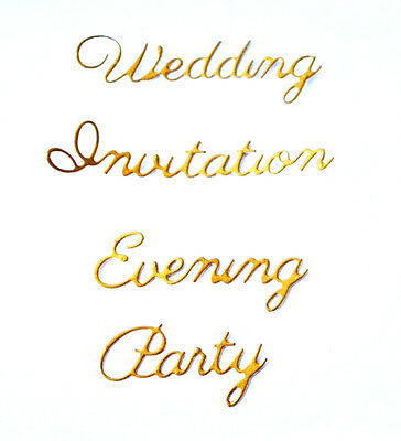 5 Sets Of Wedding Evening Invitation Party Die Cuts Br