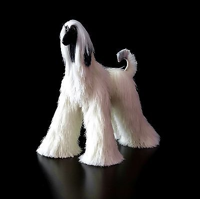 cream with black mask afghan hound, collectibles animals, cream dog figurine,
