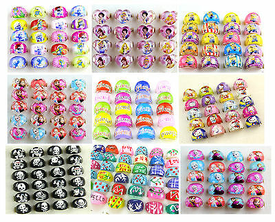 18 style mixed cartoon resin rings kids children gift party bag fillers 20 Pcs