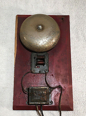 RARE Vintage ELECTRIC BELL Industrial School Fire Alarm Alert Antique
