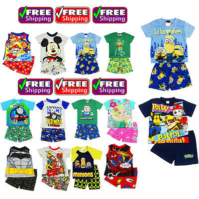 NEW Sz 1~12 BOYS PYJAMAS OCTONAUTS PJ KIDS SUMMER PJS SLEEPWEAR TOP TSHIRT TEE