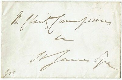 King George V - Hand addressed and initialled envelope