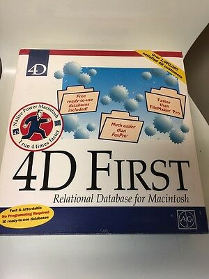 4D First Relational Database For Mac