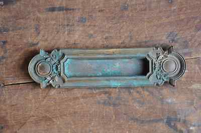 Vintage Ornate Brass Letter Slot, E2160