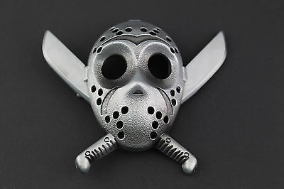 Friday The 13Th 3D Hockey Mask Belt Buckle Horror