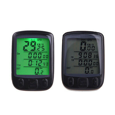 Waterproof Bicycle LED Bike Cycling Computer Speedometer Odometer with Backlight