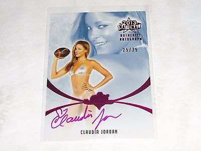 2013 Benchwarmer CLAUDIA JORDAN National #20 Pink Foil Auto/25 Deal or No Deal
