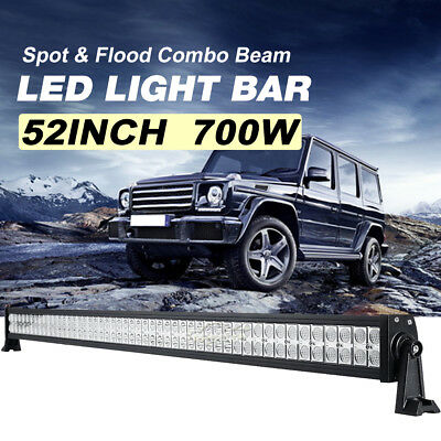 """52inch 500W PHILIPS LED Work Light Bar Flood Spot Combo Offroad Truck 4WD 50/54"""""""