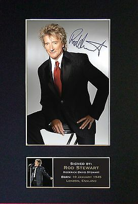 ROD STEWART Signed Mounted Autograph Photo Prints A4 #60