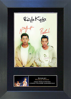 RIZZLE KICKS Signed Mounted Autograph Photo Prints A4 144