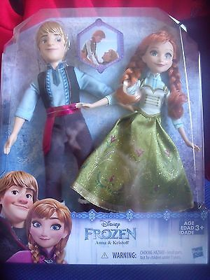 BNIB Hasbro - Disney Frozen  -  Anna & Kristoff  - 2 Doll Play Set