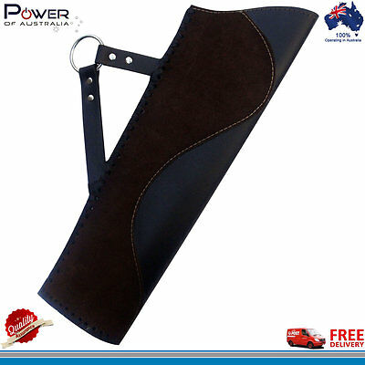 Traditional Leather Hip Quiver (R/H), Suede & Plain Leather Quiver, Antique Styl