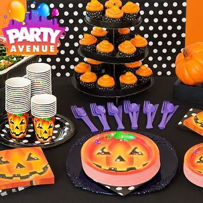 Childrens Halloween Party Tableware Perfect Pumpkin Plates Cup Napkin Tablecover