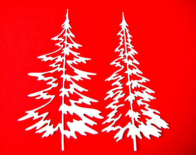Any Colour//Card 8 Large Pine Tree Christmas//Woodland Die Cuts MD