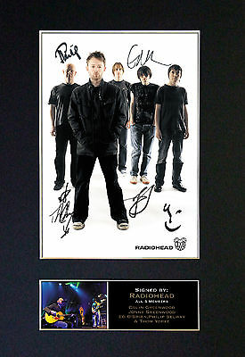 RADIOHEAD Signed Mounted Autograph Photo Prints A4 325