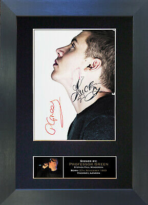 PROFESSOR GREEN Signed Mounted Autograph Photo Prints A4 81