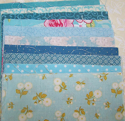 """Charm pack 20 5"""" Squares in  Blue 100% Cotton Quality Quilting Fabric"""