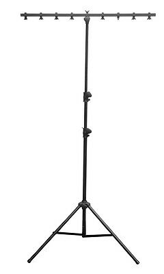 Chauvet DJ CH06 9-Feet Lightweight Lighting Stand with T Bar and 50 LB Capacity