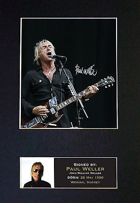 PAUL WELLER The Jam Signed Mounted Autograph Photo Prints A4 88