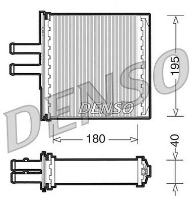 Denso Heat Exchanger interior heating DRR09061 fits FIAT PUNTO 1.1 ltr