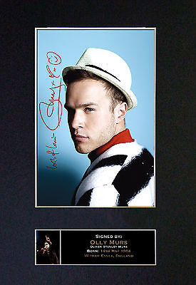 OLLY MURS Signed Mounted Autograph Photo Prints A4 83