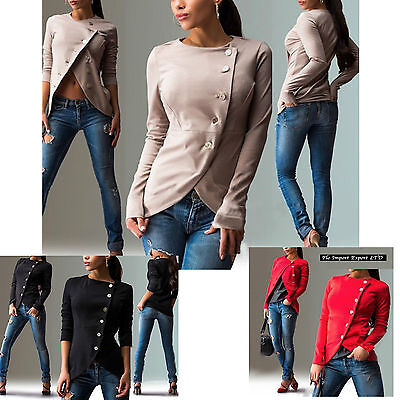 Maglia Giacca Donna Top Manica Lunga Woman Long Sleeve Top T-shirt Jacket 561023