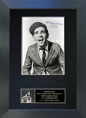NORMAN WISDOM Signed Mounted Autograph Photo Prints A4 29