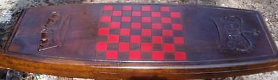 """Checkers Concrete Bench Mold made from 1/8"""" ABS"""