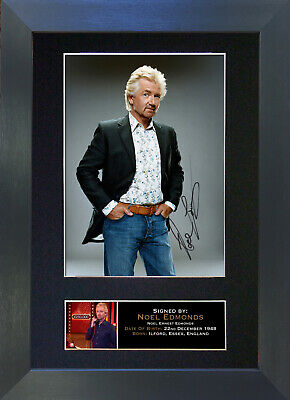 NOEL EDMONDS Signed Mounted Autograph Photo Prints A4 132
