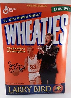 1998 WHEATIES Unopened LARRY BIRD Coaching Indiana Pacers  Commemorative Edition
