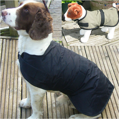Rosewood Options All Weather  'Waterproof' Fleece lined Dog Coat  Black S M L