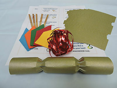 New tags large gold red make your own crackers craft personalise make your own diy gold christmas crackers great for all occasions solutioingenieria Images