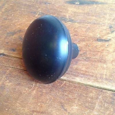 Vintage Black coated steel door knob E2201