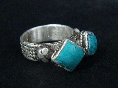 Antique Post Medieval Silver Ring With Nice Stones 1800 Ad