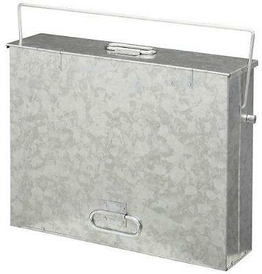 Fireside Galvanised Ash Carrier Bin With Captive Lid 3015