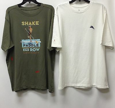 Tommy Bahama Men/'s T-Shirt Crew Neck 2nd Quality 2 for 25.99 100/% Cotton