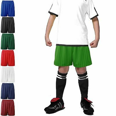 Unisex Mens Womens Shadow Stripe Football Shorts Boys Girls Active Sports Pants