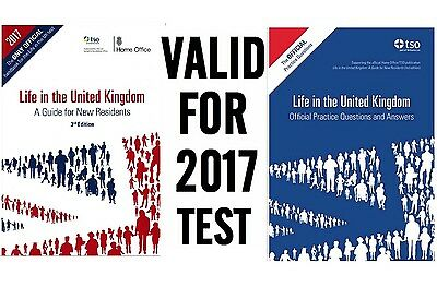 Latest Life in the UK United Kingdom 2016/17 Citizenship Test Book -2 Books LfQA