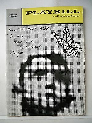 ALL THE WAY HOME Playbill TAD MOSEL Autographed NYC 1961