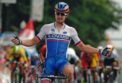 Peter Sagan Signed 8X12 inches 2015 UCI World Road Race Champion Photo - Proof