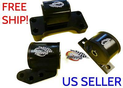 NYPPD Engine Mount kit 3 piece 5 Sp Mitsubishi Evolution 7-9 01 02 03 04 05 06