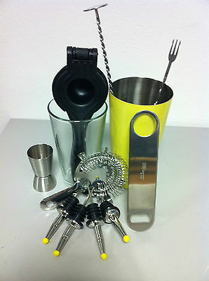 ausrüstung Barkeeper-Shaker boston-stößel bar spoon kit barman drink013