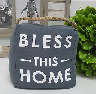 """""""Bless this home"""" door stop 1.5kg - 6033bless"""